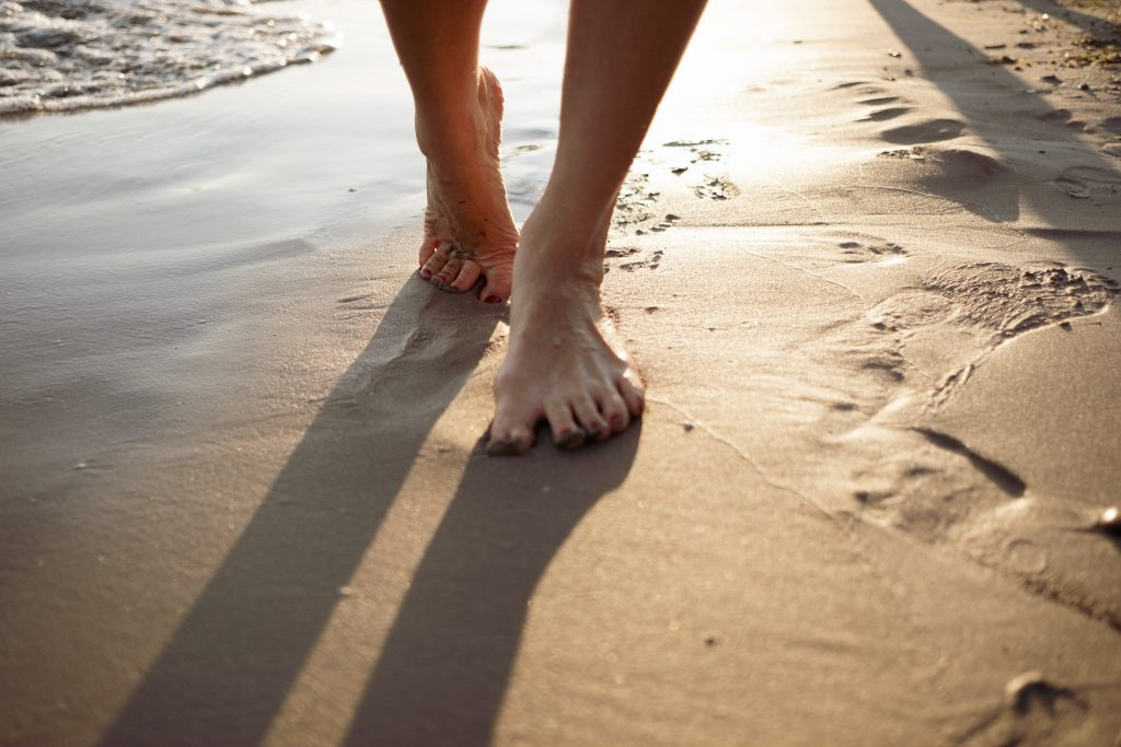 taking steps in the sand - first step towards your calling
