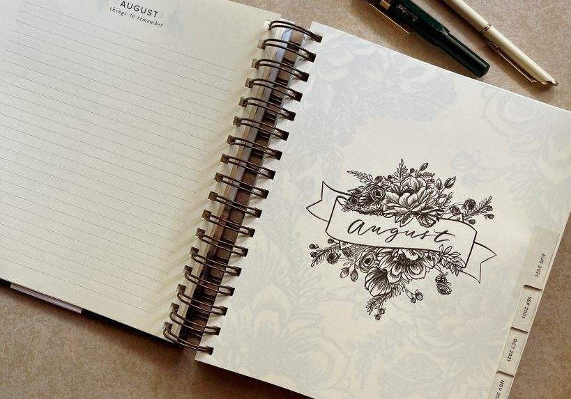 starting the year again - my 17-month planner for August